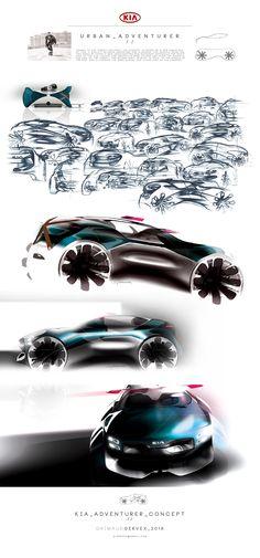 Kia project   #  Design Automotive Kia concept sketch drawing pencil photoshop