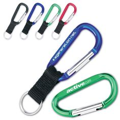 "Lanyard / Short strap with large 3"" carabiner hook features polyester lanyard strap. Hooked on you! This carabiner lanyard key chain will keep your keys and anything else that you can attach to it, safe from getting lost. Great giveaways for outdoor event! Overall 1"" x 6"" Length with hook length. Available in variety of sizes and colors! http://leaguepromos.com/lanyards-c-22.html"