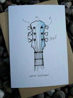 50th Birthday Cards, Bday Cards, Birthday Diy, Tumblr Birthday Cards, Birthday Design, Music Drawings, Drawing Sketches, Art Drawings, Drawing Ideas
