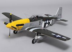 Durafly P-51D Mustang w/flaps/retracts/lights 1100mm (PNF)