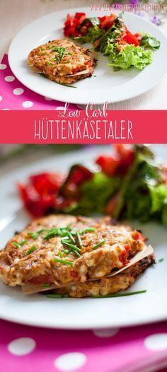 Schnelle aber richtig leckere low carb Hüttenkäsetaler! #lowcarb #abnehmen #glutenfrei www.lowcarbkoestlichkeiten.de