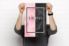 The 1975 Poster: Pink and Black by Gypsywithapurpose on Etsy
