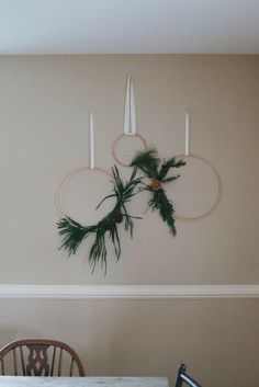 A Daily Something | Minimalistic Copper Holiday Wreath