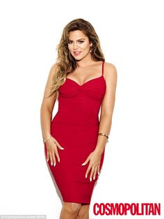 Red hot: The 30-year-old Keeping Up With The Kardashians star has spoken frankly about her weight loss and body image in the ninth issue of the Cosmopolitan magazine offshoot