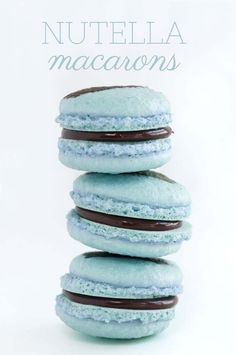 Quick and Easy Chocolate Nutella Macarons