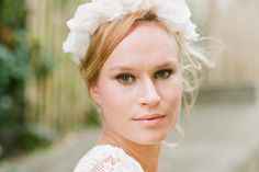 Makeup artist for the 2015bridal gowns collection of Elise Hameau.