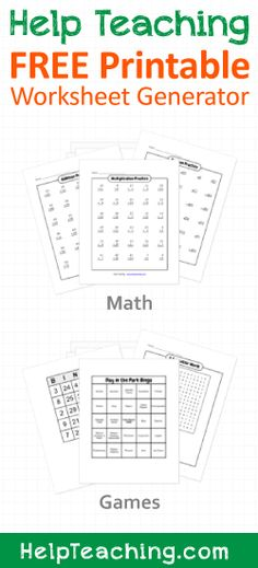 math worksheet : 1000 images about free printable activities on pinterest  : Multiplication Generator Worksheets Free