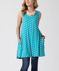 Another great find on #zulily! Jade Polka Dot Pocket Swing Tunic #zulilyfinds