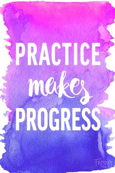 Daily Fitness Motivation: Practice makes progress, not perfection.