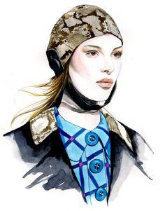 Fashion Illustrations by Caroline Andrieu | Cuded