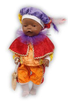 Nieuwsgierige Zwarte Pieten van 45 cm (o.a. Baby Born) Baby Born, Teddy Bear, Van, Christmas Ornaments, Toys, Holiday Decor, Animals, Xmas Ornaments, Animales