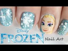 ▶ Frozen Nail Art - Elsa - YouTube Oh My Gosh! Crazy Talent here. I wish I could do that!