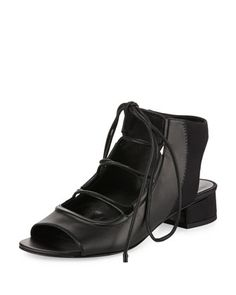 Drum+Lace-Up+Slingback+Sandal,+Black++by+3.1+Phillip+Lim+at+Bergdorf+Goodman.