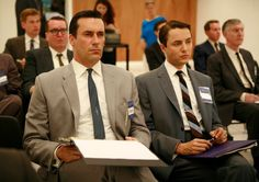 Sharp looking suits in an earlier season of Mad Men.