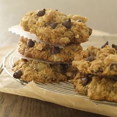 Banana Oatmeal Chocolate Chip Cookies (apparently inspired by Bethenny Frankel)