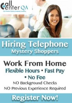 Enjoy talking on the phone?  Consider becoming a telephone mystery shopper!  Call Center QA is hiring for this home-based job!  Here is my review of Call Center QA, details about the job, and how to apply!  #workathome #jobs #hiring #mysteryshopper Home Based Work, Work From Home Moms, Make Money From Home, How To Make Money, Work From Home Companies, Work From Home Opportunities, Customer Service Jobs, Mystery Shopper, Hiring Now