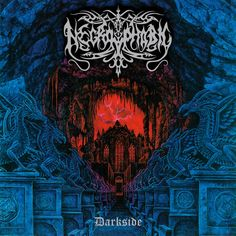 Darkside is the second album by Swedish Blackened death metal band Necrophobic. It was released in There is a hidden track after the . Best Album Art, Best Albums, Top Albums, Cool Album Covers, Music Album Covers, Music Artwork, Metal Artwork, Dark Evil, Extreme Metal