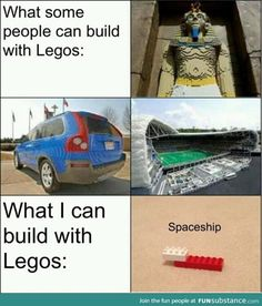 Check out: Funny Memes - Build with Legos. One of our funny daily memes selection. We add new funny memes everyday! Bookmark us today and enjoy some slapstick entertainment! Funny Shit, Really Funny Memes, Stupid Funny Memes, Funny Relatable Memes, Funny Cute, Haha Funny, Funny Stuff, Funny Things, Funny But True