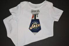 Utah Jazz Baby Tie Bodysuit or TShirt by BrikayDesigns on Etsy