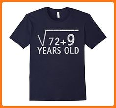 aab9b379a Mens Square Root of 81 t-shirt 9 years old gift 9th birthday XL Navy
