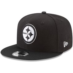 67b0755e Men's Pittsburgh Steelers New Era Black B-Dub 9FIFTY Adjustable Hat, Your  Price: