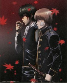 Tags: Gin Tama, Sunrise (Studio), Scan, Hijikata Toushirou, Okita Sougo, Official Art, Shinsengumi (Gin Tama)