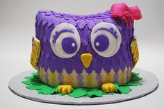 Are You looking for the owl Cake for Kids and teens birthday Party?Want Owl cake designs as inspiration for your own cake? My niece would love this Baby Cakes, Baby Shower Cakes, Owl Cakes, Cupcake Cakes, Cupcake Ideas, Fondant Cakes, Dessert Ideas, Pretty Cakes, Cute Cakes