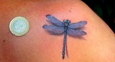 Dragonfly tattoo love the 3-d effect