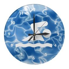 Swimming Design Wall Clock