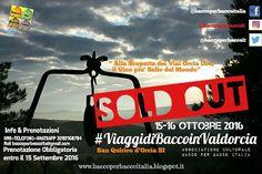 Definitivamente chiuse le iscrizioni/ #prenotazioni evento : #ViaggidiBaccoinValdorcia 15-16 Ottobre 2016 Risultato fantastico : SOLD OUT! Da tutta l'Italia in #valdorcia #tuttiinvaldorcia Tutti pazzi per #baccoperbaccoitalia