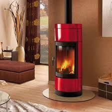 Image result for red stove wood burner