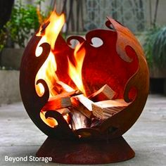 Lovely fire pot for cosy nights spent outside under the stars!