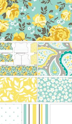 Primrose Garden in Aqua by Carina Gardner for Riley Blake Designs #primrosegarden #carinagardner #rileyblakedesigns