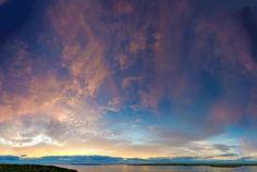 Dawn looking across to Thurso, Caithness, Scotland, with Dunnet Head on the far horizon. Saw Series, Environmental Art, Image Collection, Photo Book, Dawn, Scotland, My Photos, Clouds, Fine Art