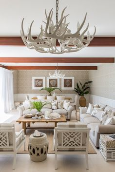 Verandah House - Coastal Living:  Subtle two tone, almost taupe walls above a char rail and off-white below.