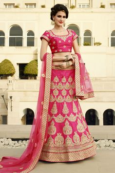 #StyleOfTheDay Buy This Pink Raw Silk Heavy Embroidery Work Designer Bridal Lehenga Choli. Buy Now:- http://www.lalgulal.com/lehenga-choli/pink-raw-silk-heavy-embroidery-work-designer-bridal-lehenga-choli-700 #CashOnDelivery & #FreeShipping only in India. For Other Query Just Whatsapp Us on +91-9512150402 Or Mail Us at info@lalgulal.com.