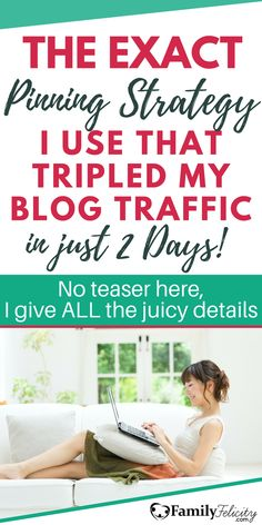 Is your Pinterest marketing strategy leaving you with no time? Get my exact Pinterest Pinning strategy that tripled my blog traffic in just 2 days! I show my entire process in this tutorial post here... #PinterestMarketing