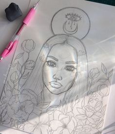 how to draw female Art Drawings Sketches, Cute Drawings, Arte Sketchbook, Art Hoe, Dope Art, Pencil Art, Oeuvre D'art, Art Inspo, Painting & Drawing