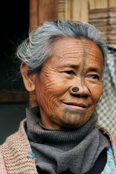 2007 from the world photography collection of Richard Notebaart of Radboud University, Netherlands. Valley College, Northeast India, Arunachal Pradesh, College Library, Body Adornment, World Photography, Body Modifications, Tribal Tattoos, Netherlands