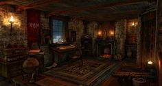 Room in a castle
