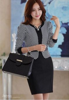 Korean Women`s Fashion Shopping Mall, Styleonme. Modele Hijab, Office Fashion, Work Attire, Work Casual, Skirt Outfits, Work Outfits, Fashion Outfits, Womens Fashion, Asian Fashion