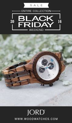 It's BLACK FRIDAY WEEKEND! Every watch in the JORD collection is on sale with discounts of up to 35%. Want to personalize the gift, we now offer custom engraving! Limited quantities available, now with free shipping worldwide!