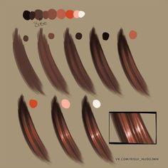 15 Trendy Ideas For Drawing Hair Tutorial Character Design Cartoon Digital Art Tutorial, Digital Painting Tutorials, Art Tutorials, Digital Paintings, Acrylic Tutorials, Drawing Tutorials, Coloring Tutorial, How To Draw Hair, Illustrator Tutorials