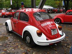 VW Käfer Feuerwehr by jenskramer, via Flickr