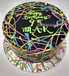 Sweets, treats, and custom cakes in San Jose — C'est Si Bon Bakery Paint Splatter Cake, Neon Cakes, Laser Tag Party, Bite Size Cookies, Rainbow Painting, Welcome To The Family, Small Cake, Cake Creations, San Jose