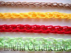 Мастер-класс Вязание, Вязание крючком: Эластичный наборный край крючком Пряжа. Фото 1
