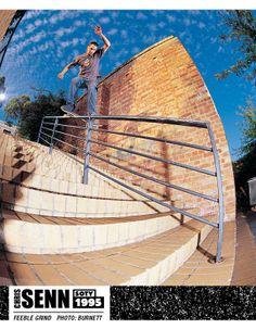 Chris Senn, 1995. Thrasher Skateboard Magazine | Skater of the Year. Photo: Burnett