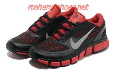 separation shoes 9b358 369a7 Nike Free Trainer 7.0 Black Leather Cym Red Silver 524311 006