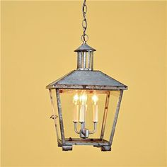 Rustic Galvanized Lantern from Shades of Light...perfect for the new pergola