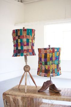 Now available at indie + roe: Recycled Rolling ... Check it out here! http://indieandroe.com/products/recycled-wooden-rolling-pin-lamp-with-recycled-woven-kantha-fabric-shade?utm_campaign=social_autopilot&utm_source=pin&utm_medium=pin